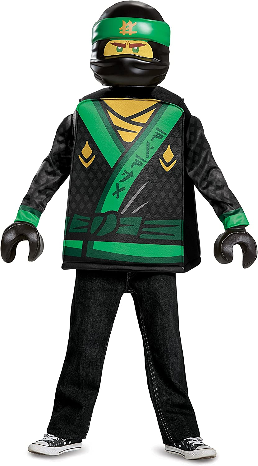 Disguise Costumes Lloyd Lego Ninjago Movie Classic Costume, Green, Large (1012)
