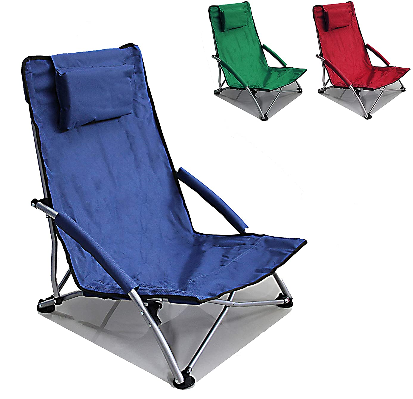 Low Sling Beach Chair Folding Campfire Camping Sand Chair