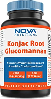 Nova Nutritions Konjac Root Glucomannan 100% Pure Powder - 8 oz