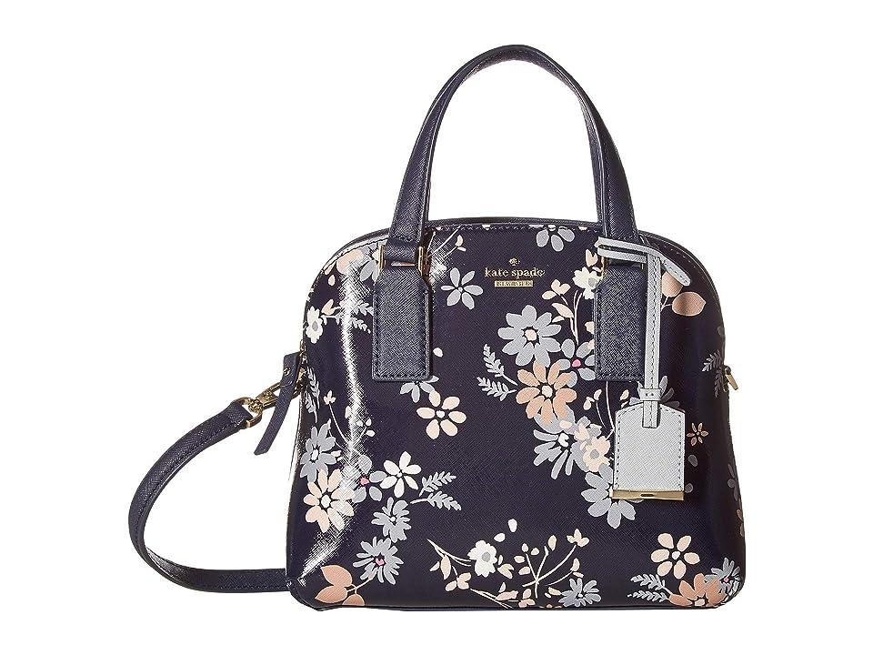ba9ba76f03 Kate Spade New York Cameron Street Floral Small Lottie (Navy) Handbags