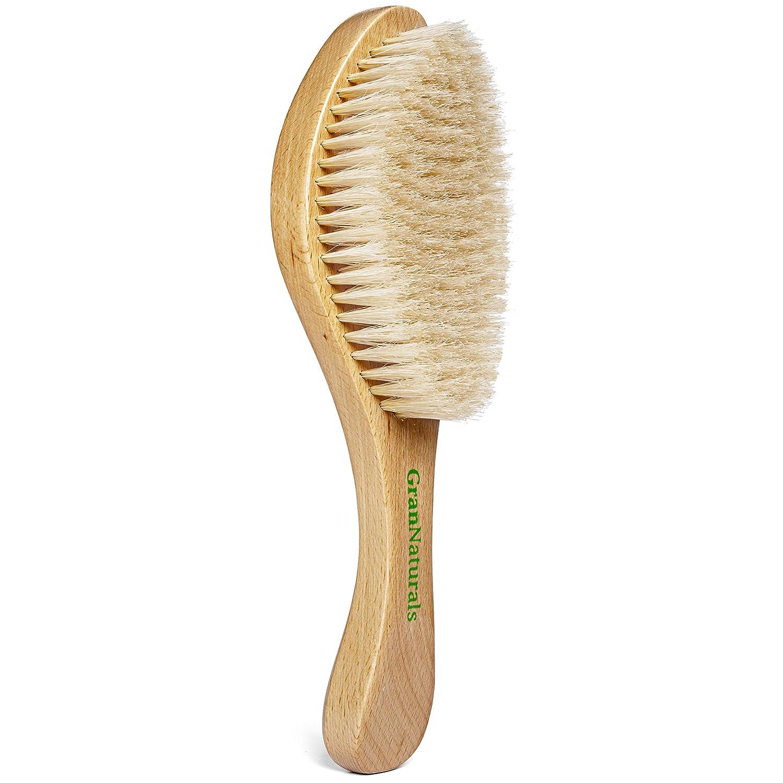 Cheap mail order sales GranNaturals Soft Wave Brush - Bristle Hair Curved Kansas City Mall Boar fo