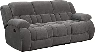 Coaster Home Furnishings Weissman Pillow Padded Motion Sofa Charcoal