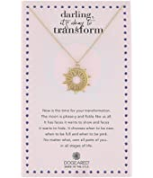 Dogeared - Darling It's Okay To Transform, Sun X Moon Coin Charm Necklace