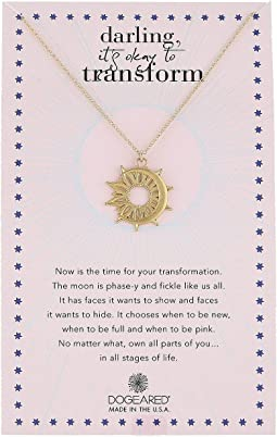 Darling It's Okay To Transform, Sun X Moon Coin Charm Necklace