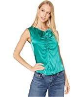Rebecca Taylor - Sleeveless Charmeuse Top