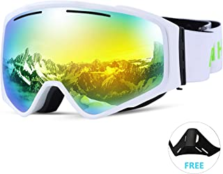 48e35aadee SunTime Gafas de Esquiar Antiniebla Anteojos para Esquí al Aire Libre  Máscara Deportivo Gafas de Protección