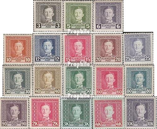 Prophila Collection Austria.-Bosnia-Herzegovina. 124-141 (Completa.edición.) 1917 Karl I. (Sellos para los coleccionistas)