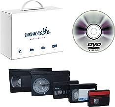 Memorable Video Transfer Service (VHS, 8mm, Hi-8, MiniDV) to DVD - 4 Tapes