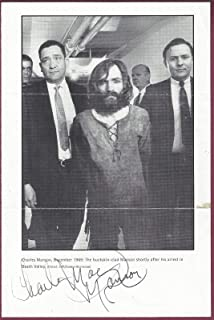Charles Manson Authentically Signed Photo