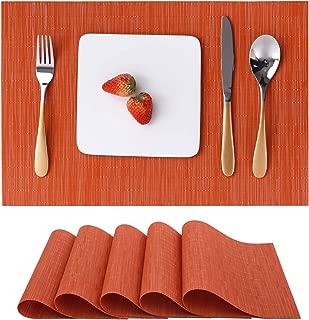Maxtapos-40 x 30 cm Silicone Antid/érapant R/ésistant /à la Chaleur Set de Table Bol Tasse Tapis de Table Coussin Pad Cuisine Salle /à Manger D/écor Red 1#