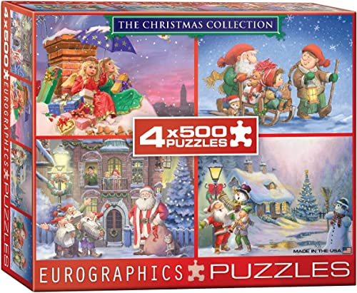 Eurographics Puzzle Multipack - 4 x 500 Pc - The Christmas Collection   NEW   (EG89040552)