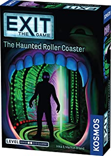 Exit: The Haunted Roller Coaster | Exit: The Game - A Kosmos Game from Thames & Kosmos | Family-Friendly, Card-Based at-Home Escape Room Experience for 1 to 4 Players, Ages 10+