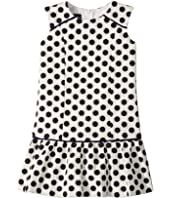 Oscar de la Renta Childrenswear - Dots On Tweed Drop Waist Dress (Toddler/Little Kids/Big Kids)