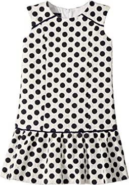 Oscar de la Renta Childrenswear Dots On Tweed Drop Waist Dress (Toddler/Little Kids/Big Kids)