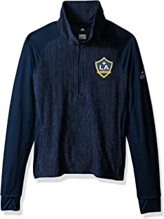 adidas Adult Women Logo Driven 2.5 Heathered Quarter Zip, Collegiate Navy, Small