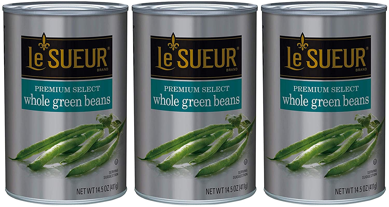 Le Sueur Premium Select Whole Green 14.5 Pack Easy-to-use 1 shop Beans Ounce of