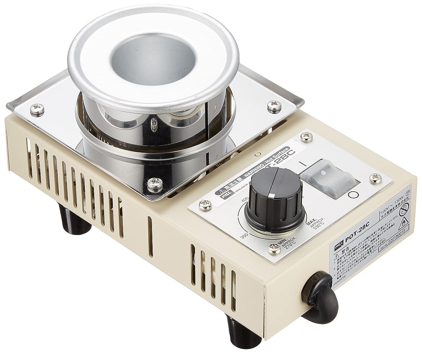 のヒープ忘れられないコントロールgoot ソルダーポット 鋳鉄ツボ POT-28C