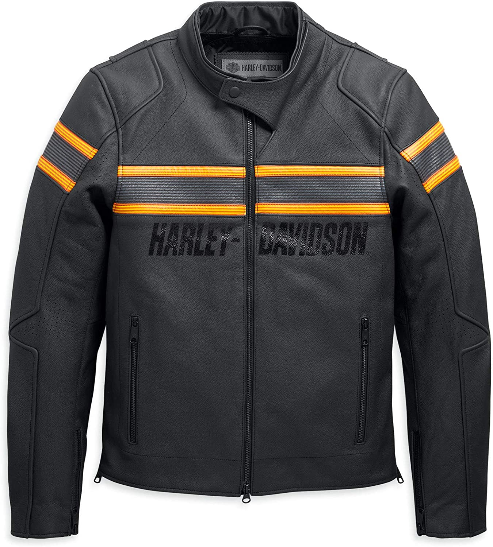 Harley Davidson Herren Lederjacke Sidari Protektorenjacke Motorrad Schutzjacke Xl Auto