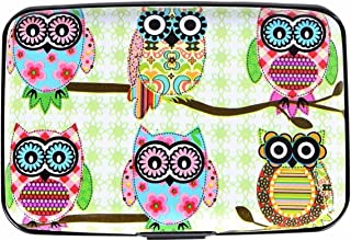 Cute Owl Printed Wallet RFID Blocking Waterproof Credit Card Holder Case