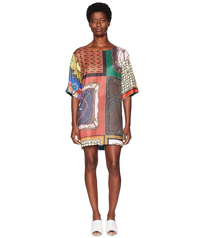 Boutique Moschino Shift Dress (Fantasy Print/Vintage Scarf) Women