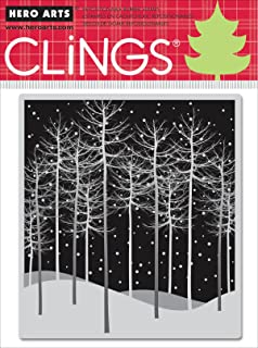 Hero Arts Rubber Stamps Winter Trees Cling Stamp