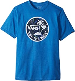 Vans Kids - Dual Palm Logo Fill Tee (Big Kids)