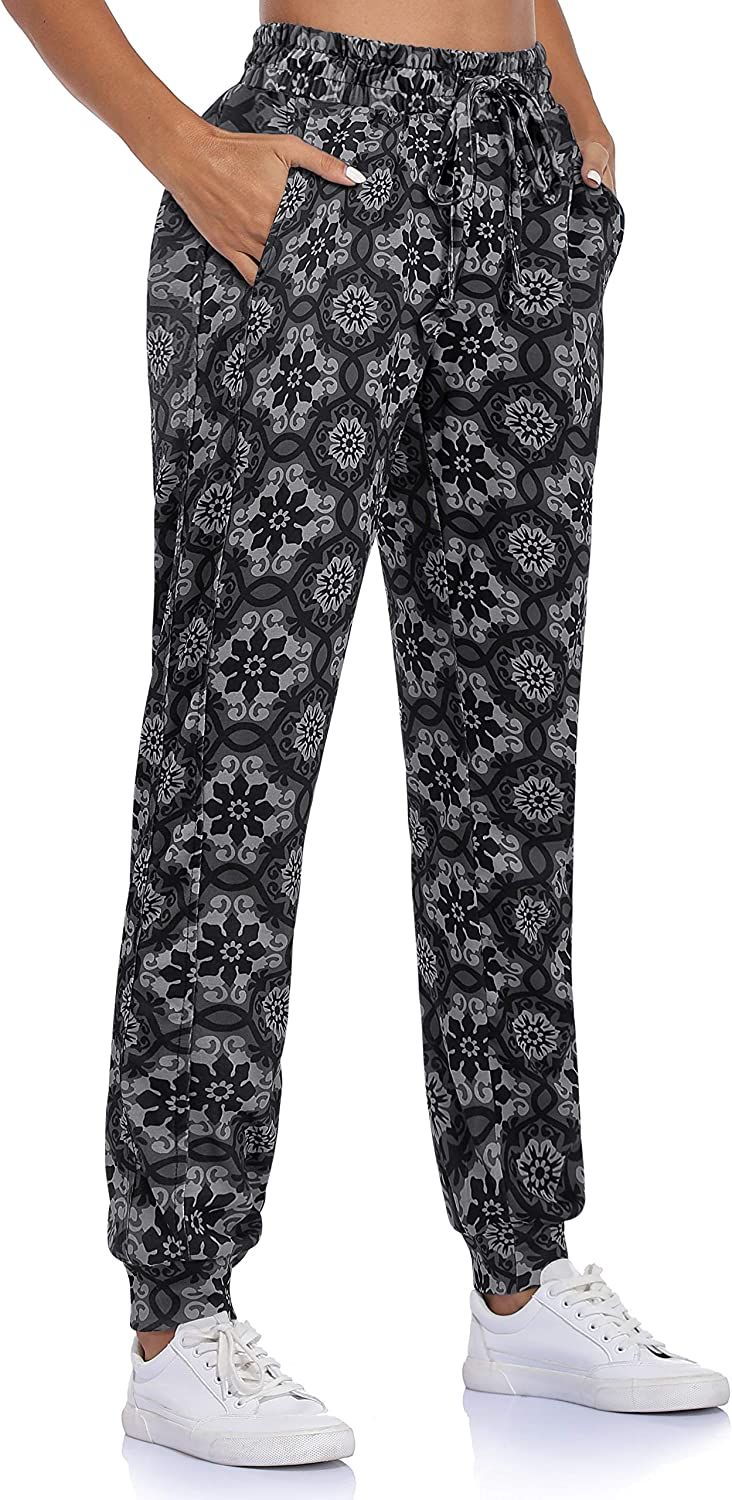 Fulbelle Womens Loose Workout Running Sweatpants Yoga Track Pants with Pockets
