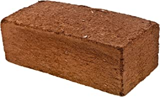 Premium Coco Coir Brick | 11 Pound Coconut Fiber Block | Compressed Growing Medium | Perfect As Hydroponics Garden Soil | 100% Organic, Eco-Friendly & Biodegradable | Great Seed Bed