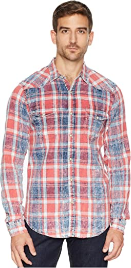 Red Plaid Western Shirt