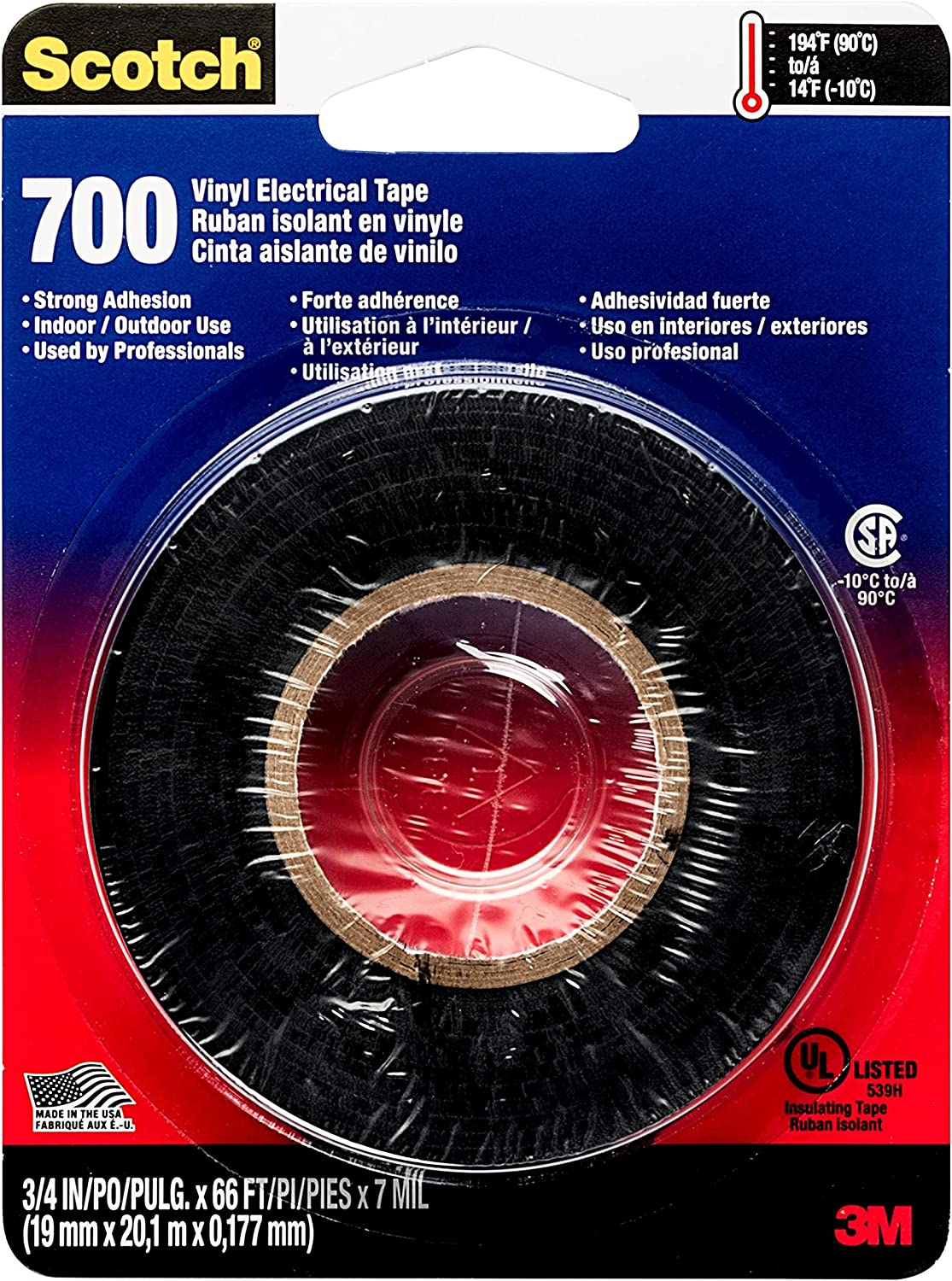 Scotch Electrical Tape, 20/20 in by 20 ft, Black, 20 Roll, Masking ...