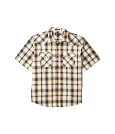 Pendleton Frontier Shirt Short Sleeve (Navy Plaid) Men