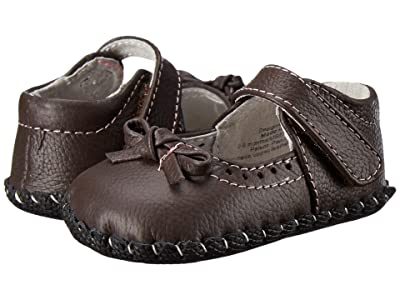 pediped Isabella Original (Infant) (Chocolate Brown W/ Pink Stitch) Girls Shoes