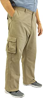 ROCXL Big & Tall Men's 100% Cotton Casual Cargo Pants