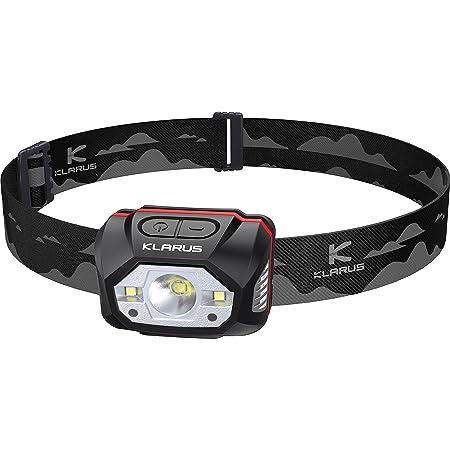 Klarus HM1 Lampe Frontale Rechargeable 440 Lumens avec Détecteur de Mouvement, 5 Modes de fonctionnement 70 heures, Torche frontale LED IPX6 étanche pour la course, le camping, la randonnée, la chasse