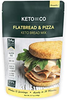 Sponsored Ad - Keto Flatbread & Pizza Bread Mix by Keto and Co | Just 1.4g Net Carbs | Gluten Free, Diabetic & Keto Friend...