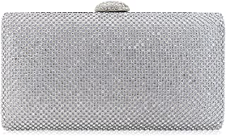 Dexmay Large Rhinestone Crystal Clutch Evening Bag Women Clutch Purse for Cocktail Prom Party