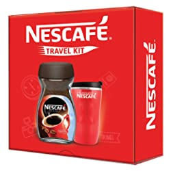NESCAFÉ Travel Kit (Red) - NESCAFÉ Classic Coffee, 200g with Travel Mug (Limited Edition)