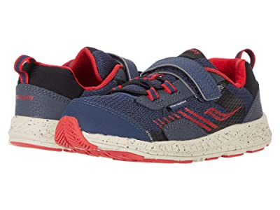 Saucony Kids S-Wind Shield A/C JR (Toddler/Little Kid) (Navy/Red) Boys Shoes