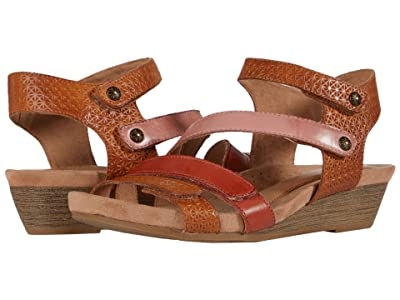 Cobb Hill Hollywood 4 Strap (Tan/Multi) Women