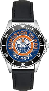 Gift for Edmonton Oilers NHL Ice Hockey Fan Article Watch L-4502