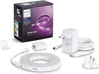 Philips Hue lightstrip Plus Basisset - 2 Meter - Verlengbaar - Duurzame LED Verlichting - Wit en Gekleurd Licht - Dimbaar...
