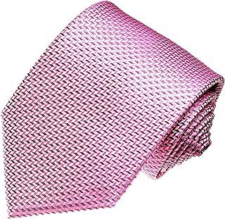Marken Krawatte aus 100% Seide in italienischer Tradition von Hand gefertigt - rosa rose Punkte - 42014