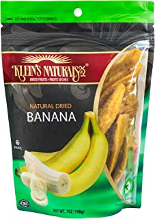 Klein's Natural Dried Bananas, Unsweetened - Better than Banana Chips, 7 Oz.