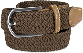 Men's 32mm Woven Expandable Braided Stretch Belts, (Available in Multiple Colors & Sizes S-XXXXXL)