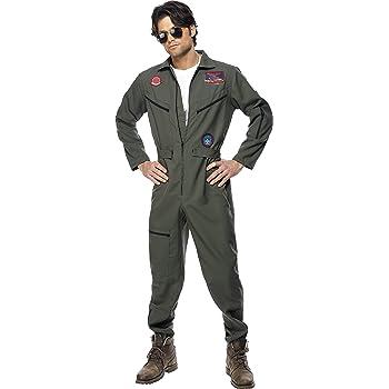 SmiffyS 36287L Disfraz De Top Gun Con Mono, Placas De ...