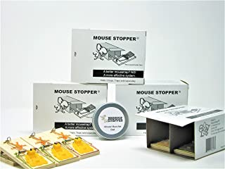 Mouse Stopper | Mouse Trapping System Includes Reusable Barrier Boxes, Reusable Mouse Traps and Custom Mouse Bait Blend (4 Barrier Boxes, 8 Traps, 1Tin of Mouse Munchie Bait)