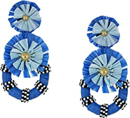 Tiered Raffia Burst Earrings