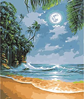 Katosca DIY Paint by Numbers for Adults Kids Seascape Paint by Numbers DIY Painting Acrylic Paint by Numbers Painting Kit ...