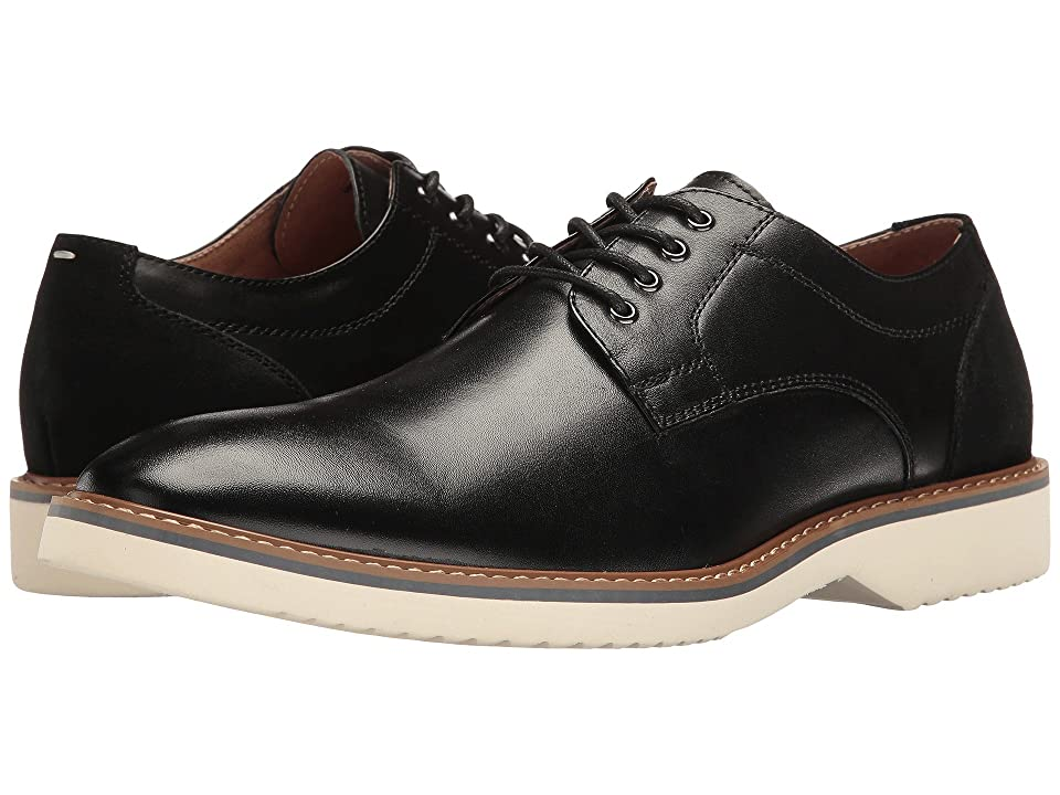 Florsheim Union Plain Toe Oxford (Black Smooth/Black Suede) Men