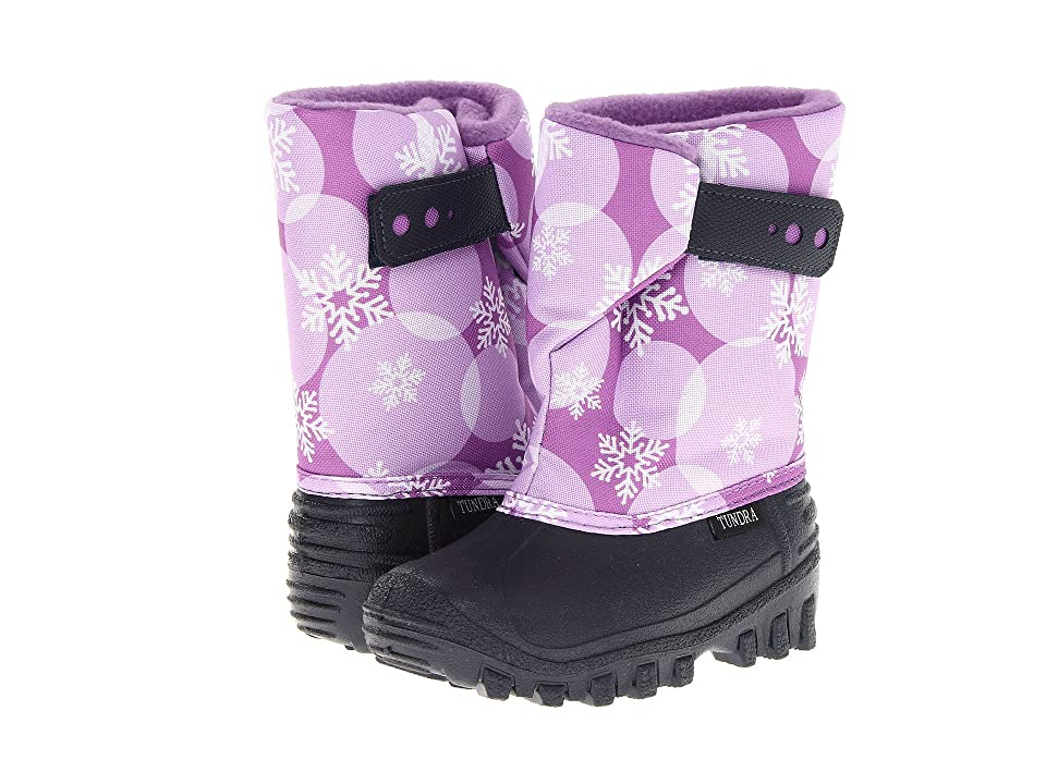 Tundra Boots Kids Teddy 4 (Toddler/Little Kid) (Navy/Plum/Circle) Girls Shoes